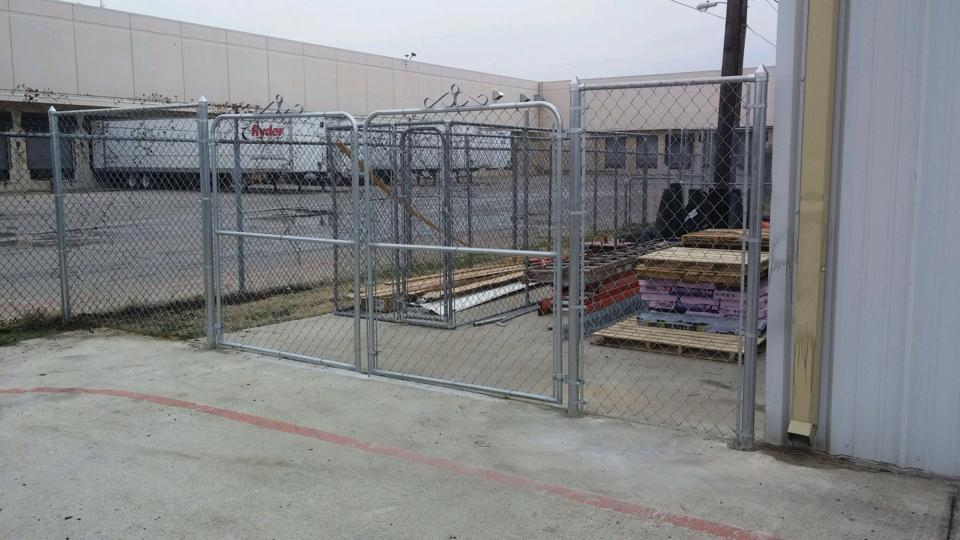 New Commercial Fence In Garland Waterview Construction