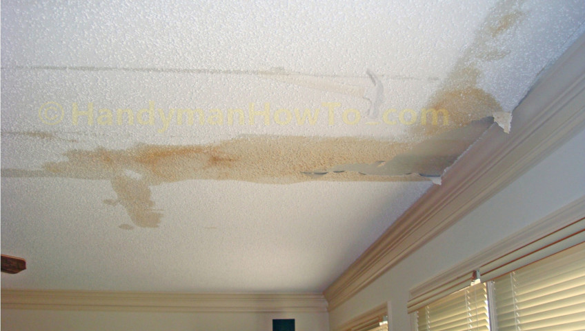 What to do when your ceiling is leaking waterview Roof leaks when it rains hard
